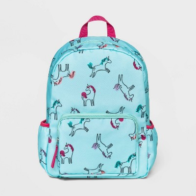 Girls' Unicorn All Over Print Backpack - Cat & Jack™ Teal
