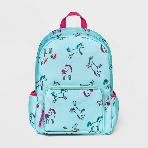 Girls' Unicorn All Over Print Backpack - Cat & Jack™ Teal - image 1 of 2