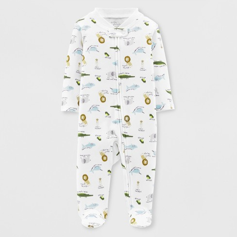 a53033b9c5 Little Planet Organic By Carter s Baby Boys  Animals Footed Sleeper ...