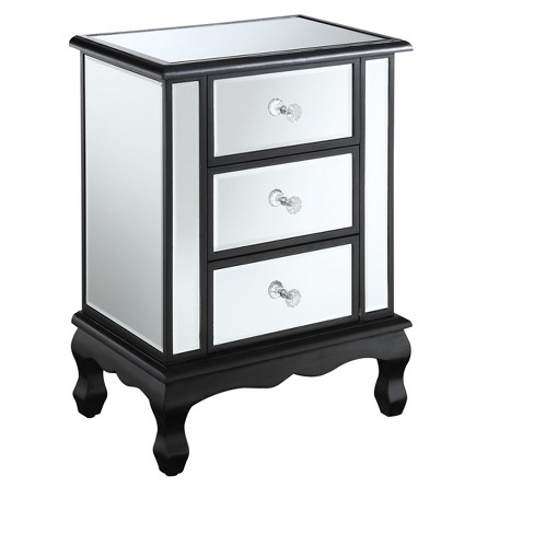 Gold Coast Vineyard 3 Drawer Mirrored End Table - Johar Furniture - image 1 of 3