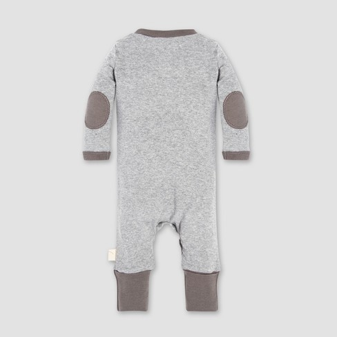 3289db53363 Burt's Bees Baby® Henley Coverall - Heather Gray : Target