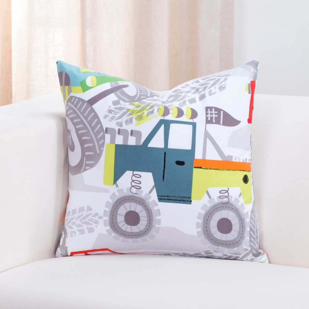 "Image of ""16""""x16"""" Four Wheeling Accent Throw Pillow With Sham - Crayola"""