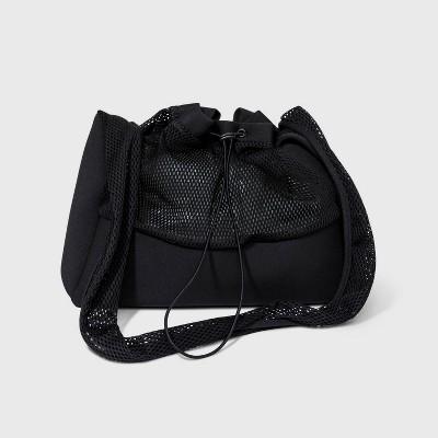 Mesh Sling Elastic Band Hobo Handbag - Shade & Shore™ Black