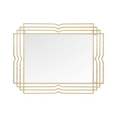 "28"" x 36"" Monroe Rectangle Decorative Wall Mirror Gold"