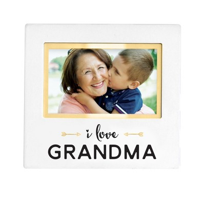 "Pearhead Keepsake Picture Frame 4"" x 6"" - ""I love Grandma"" White"