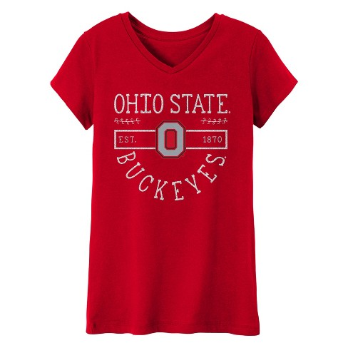 Ohio State Buckeyes Girls' Short Sleeve V-Neck Core T-Shirt - image 1 of 1