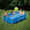 Summer Waves P30509260 8.5 x 5.25 Foot 26 Inch Deep Rectangular Small Metal Frame Above Ground Family Backyard Swimming Pool, Blue - image 2 of 2