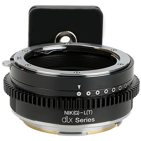 Fotodiox Pro Lens Mount Adapter for Nikon F Mount G-Type D/SLR Lens to Leica L-Mount (T-Mount) Camera Body - image 1 of 3