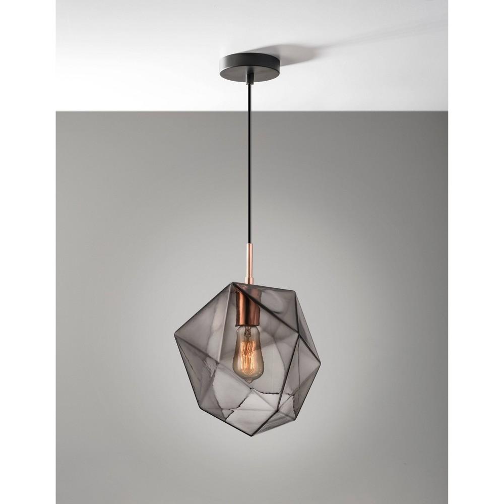 Image of Haze Pendant Ceiling Light Copper - Adesso