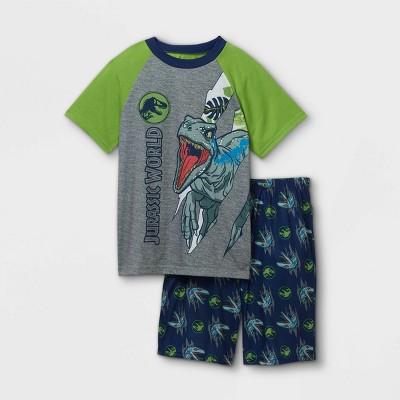 Boys' Jurassic World 2pc Pajama Set - Green/Blue