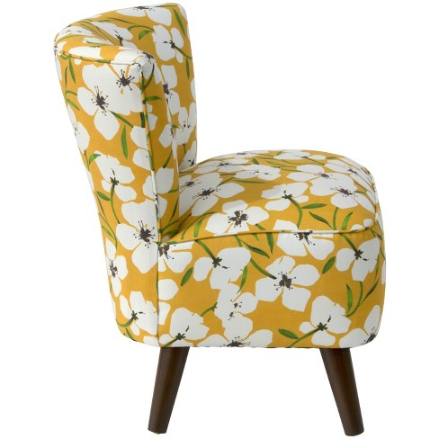 Sasha Armless Chair Yellow Floral Cloth Co Target