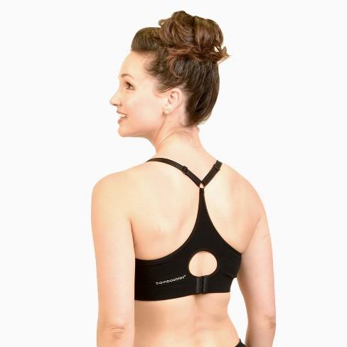 637f7cb737a13 Bamboobies Yoga Nursing Bra- Black   Target