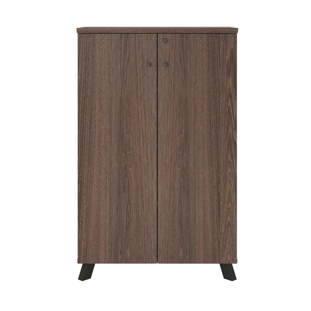 Image of Ax1 Storage Cabinet Medium Brown - Ameriwood Home