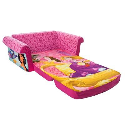 marshmallow furniture children s 2 in 1 flip open foam sofa disney rh target com  disney princess flip open sofa bed