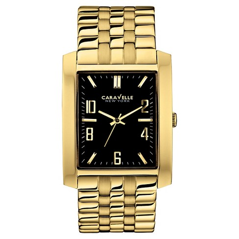 Caravelle New York by Bulova Men's Gold-Tone Stainless Steel Bracelet Watch - 44A103 - image 1 of 1