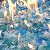 Recycled Fire Pit Fire Glass - Beach Glass Blue - AZ Patio Heaters - image 2 of 3