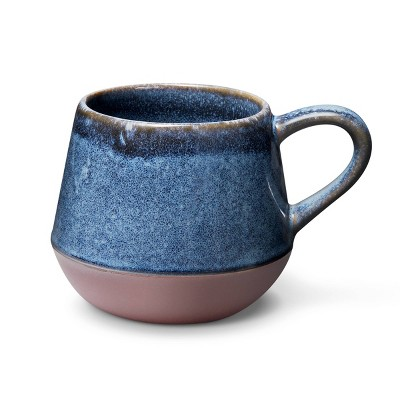 14 fl oz Reactive Glaze Stoneware Mug Blue - Levi's® x Target