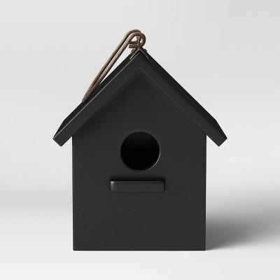 "8"" Wood Bird House Black - Smith & Hawken™"