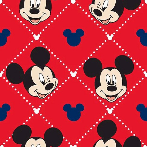 Mickey Mouse Argyle Coral Fleece Fabric - image 1 of 1