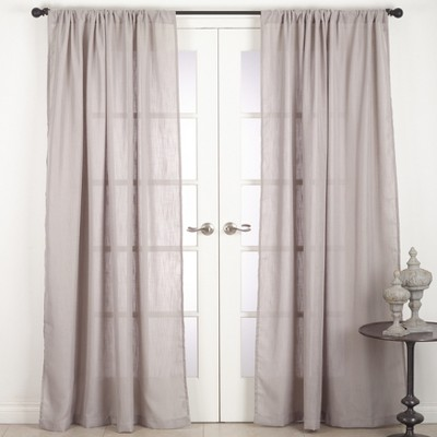 Solid T96 Sheer Curtain Panels Light Gray - Saro Lifestyle