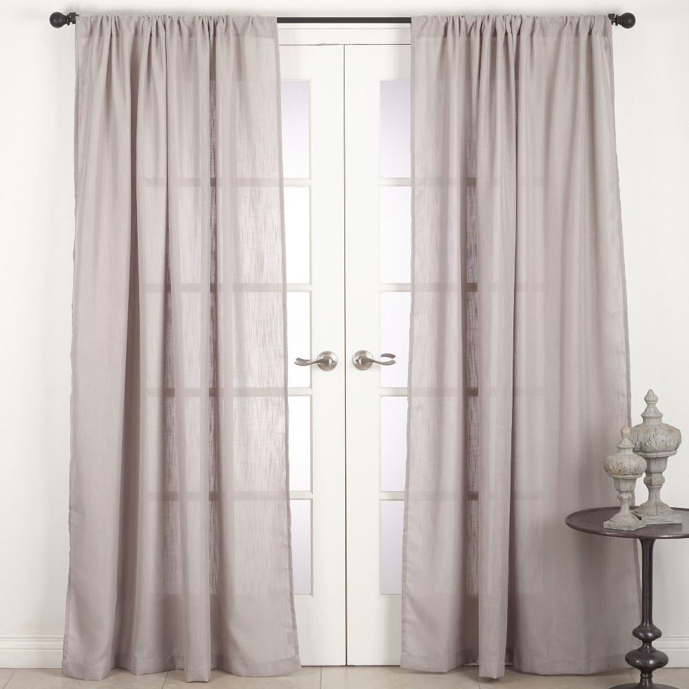 Solid T108 Sheer Curtain Panels Light Gray Saro Lifestyle