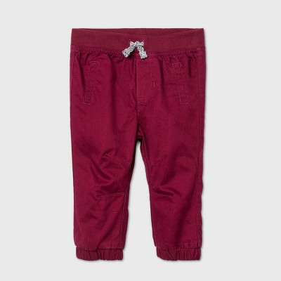 Baby Boys' Cargo Pants - Cat & Jack™ Burgundy