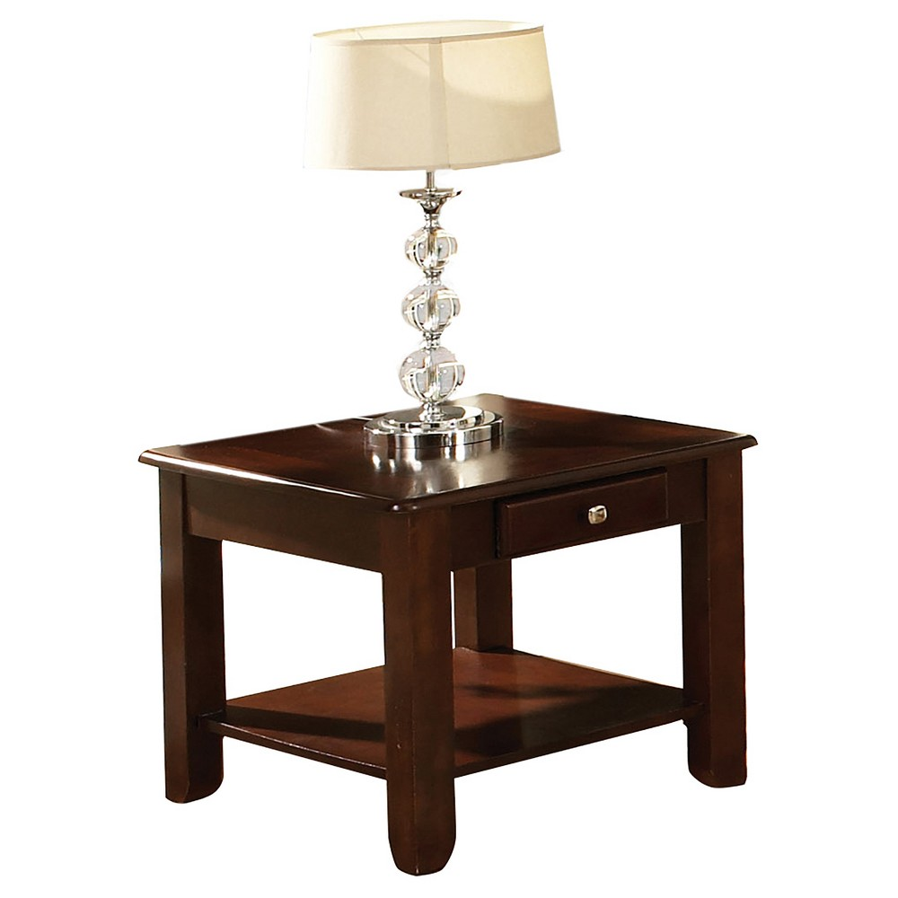 Nelson End Table Cherry (Red) - Steve Silver
