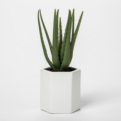 Faux Aloe Plant in White Pot - Project 62™