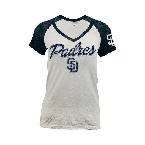 buy popular ca032 2cc96 San Diego Padres Women's Burnout Raglan T-Shirt XS