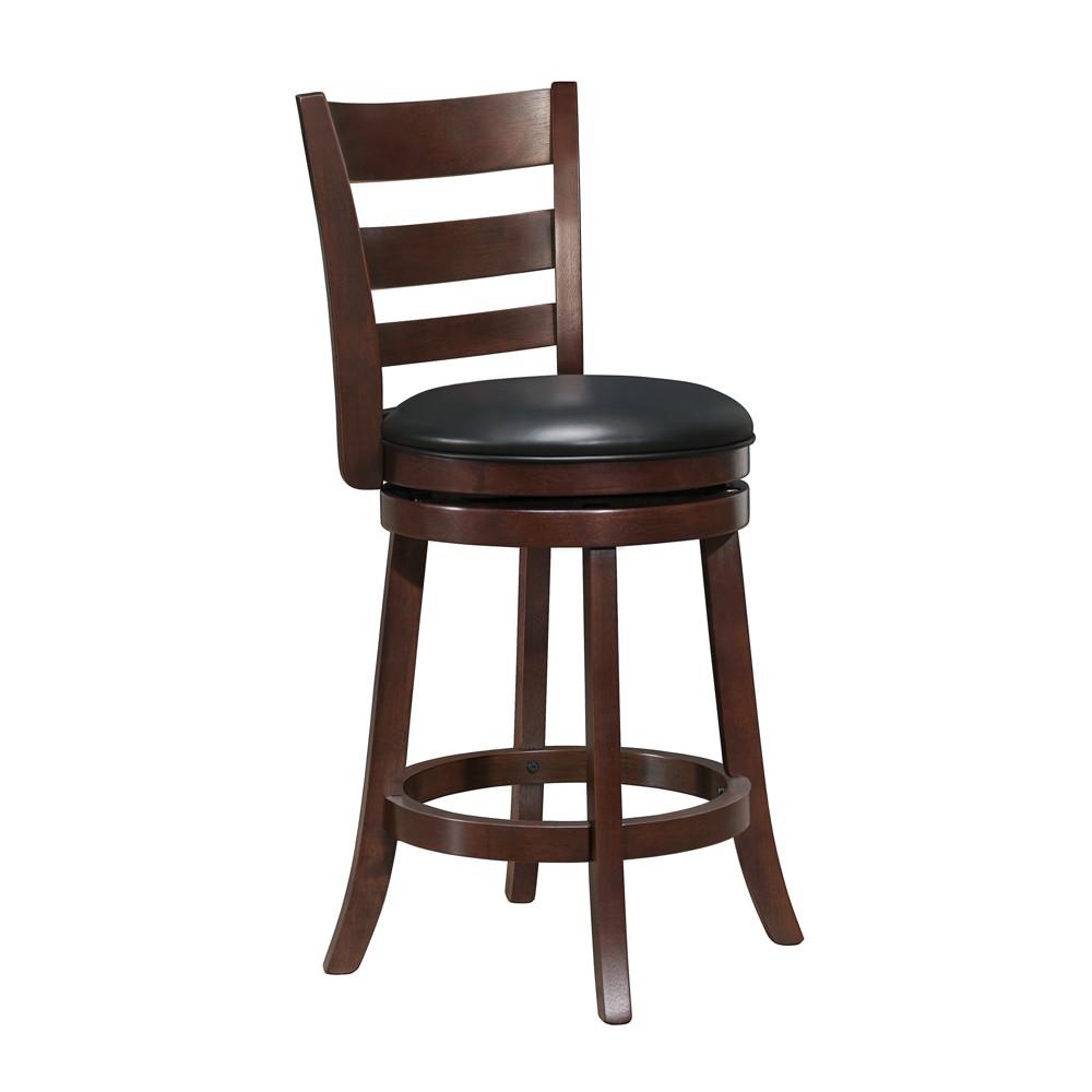 """Image of """"24"""""""" Tamaran Swivel Chair Black/Dark Brown - Inspire Q"""""""