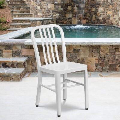 Flash Furniture Commercial Grade Metal Indoor-Outdoor Chair