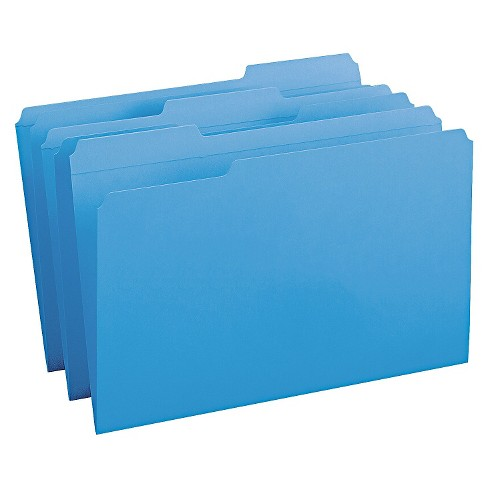 Smead® File Folders, 1/3 Cut, Reinforced Top Tab, Legal, Blue, 100/Box - image 1 of 1