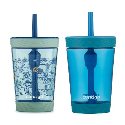 Contigo 14oz 2pk Plastic Spill-Proof Kids Tumblers Gummy/Green