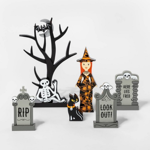 Mini Mantle Witch and Gravestone Halloween Accessory Set - Hyde & EEK! Boutique™ - image 1 of 1