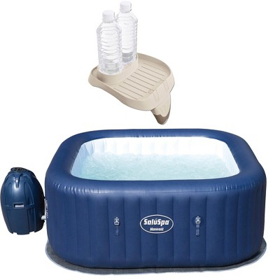 Bestway 54155 SaluSpa Hawaii AirJet 6-Person Portable Outdoor Spa Hot Tub with Intex PureSpa Attachable Cup Holder And Refreshment Tray