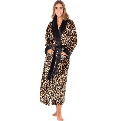 Alexander Del Rossa Women's Warm Fleece Shawl Collar Bathrobe