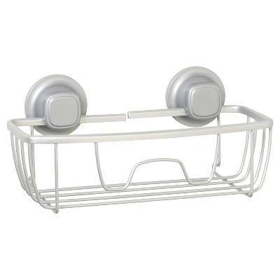 NeverRust Power Grip Aluminum Suction Basket Satin Chrome - Zenna Home