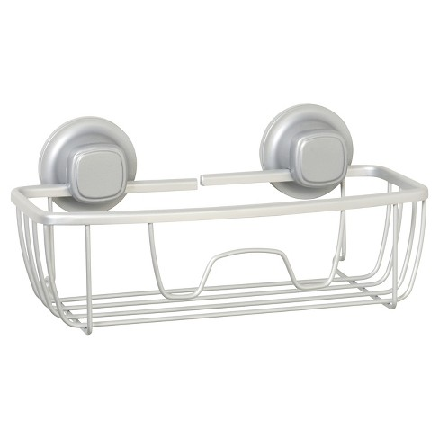 NeverRust Power Grip Aluminum Suction Basket Satin Chrome - Zenna Home - image 1 of 3