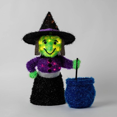 Moving Tinsel Witch Incandescent Light Up Halloween Decor - Hyde & EEK! Boutique™