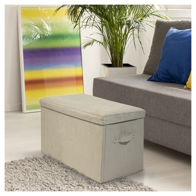 Seat Pad Folding Storage Bench   Micro Suede Cover   Flora Home : Target