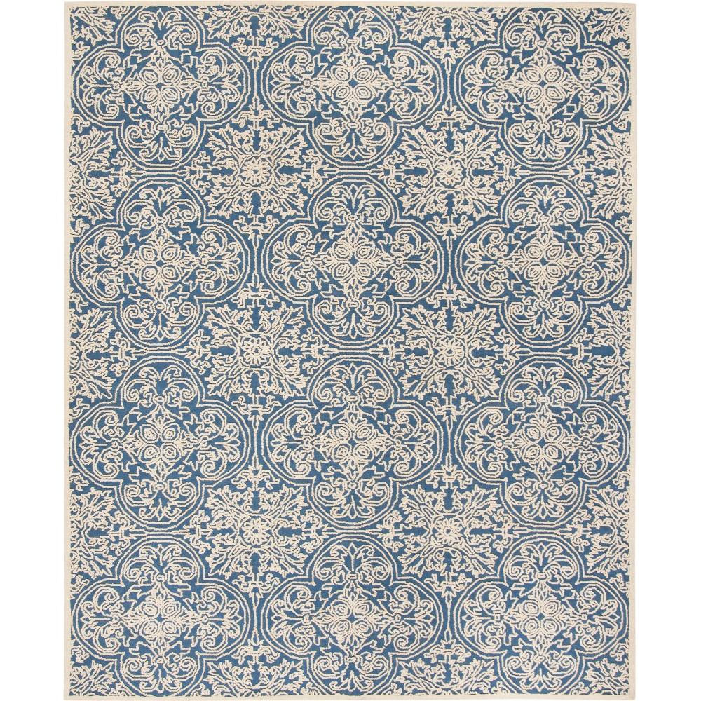 8'X10' Shapes Tufted Area Rug Blue/Ivory - Safavieh