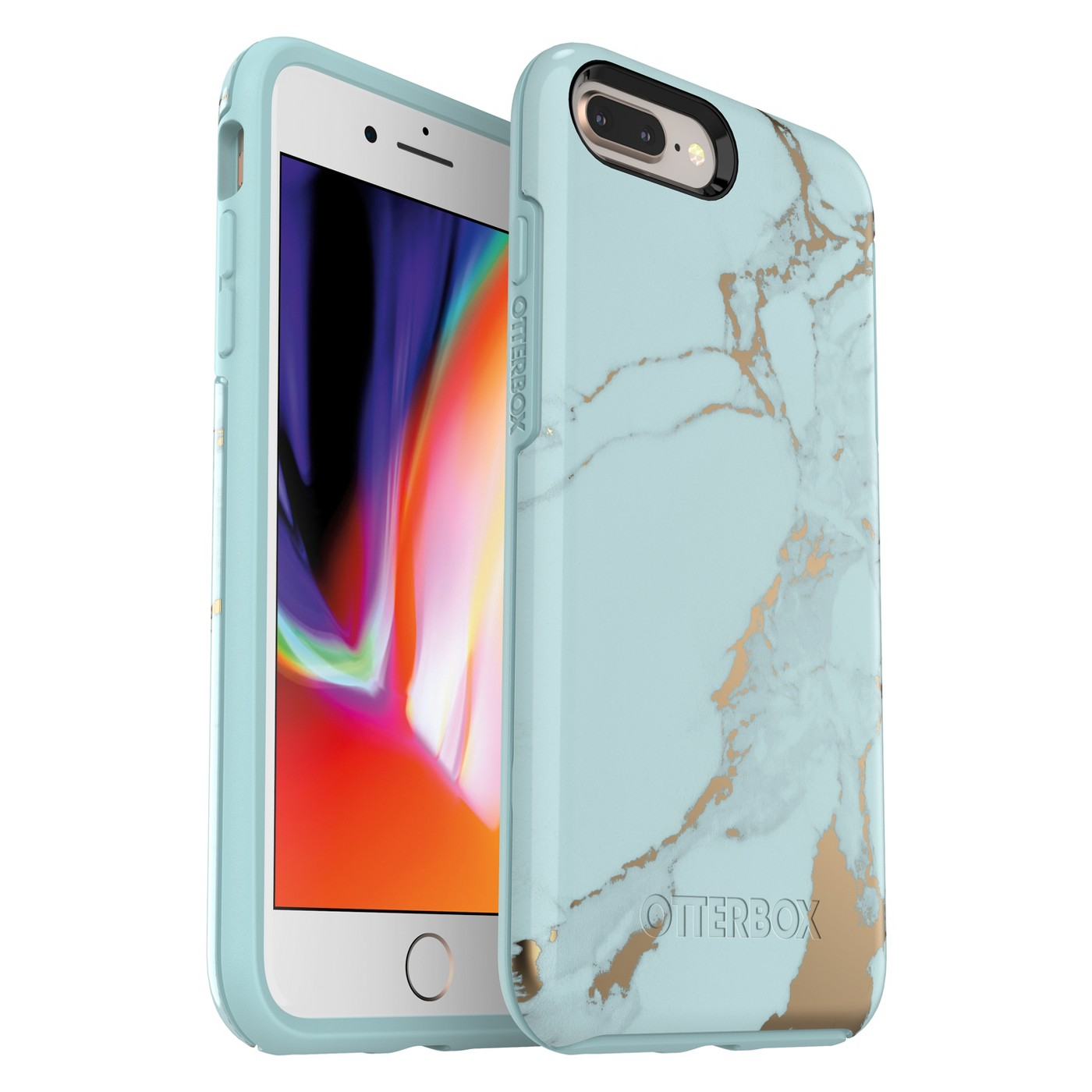 OtterBox Apple iPhone 8 Plus/7 Plus Symmetry Case - Teal Marble - image 1 of 4