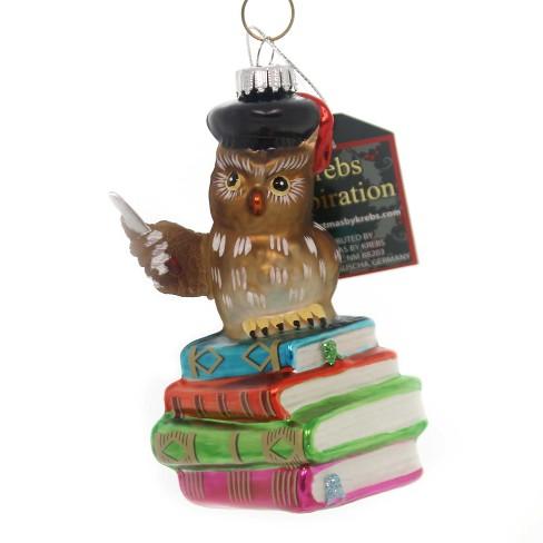"Holiday Ornaments 4.25"" Owl Teacher Knowledge School Bird  -  Tree Ornaments - image 1 of 2"