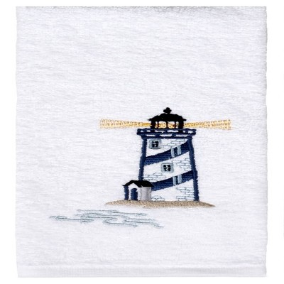 "Saturday Knight Ltd Lighthouse High Quality Stylish Easily Fit & Ultra-Durable Everyday Use Hand Towel 16x25"" - White"