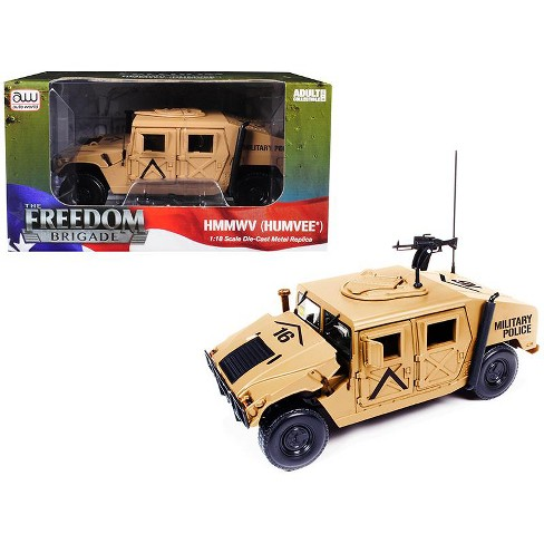 hmmwv humvee military police desert tan 1 18 diecast model car by autoworld target hmmwv humvee military police desert tan 1 18 diecast model car by autoworld