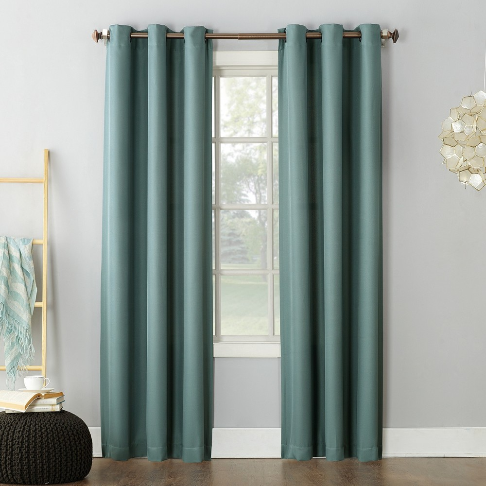 Montego Casual Grommet Top Curtain Panel Mineral 48