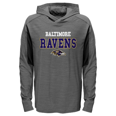 690faf9b6 Baltimore Ravens Boys  Sideline Speed Gray Lightweight Hoodie XS ...