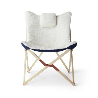 Sherpa Butterfly Chair with Headrest Cream - Levi's® x Target