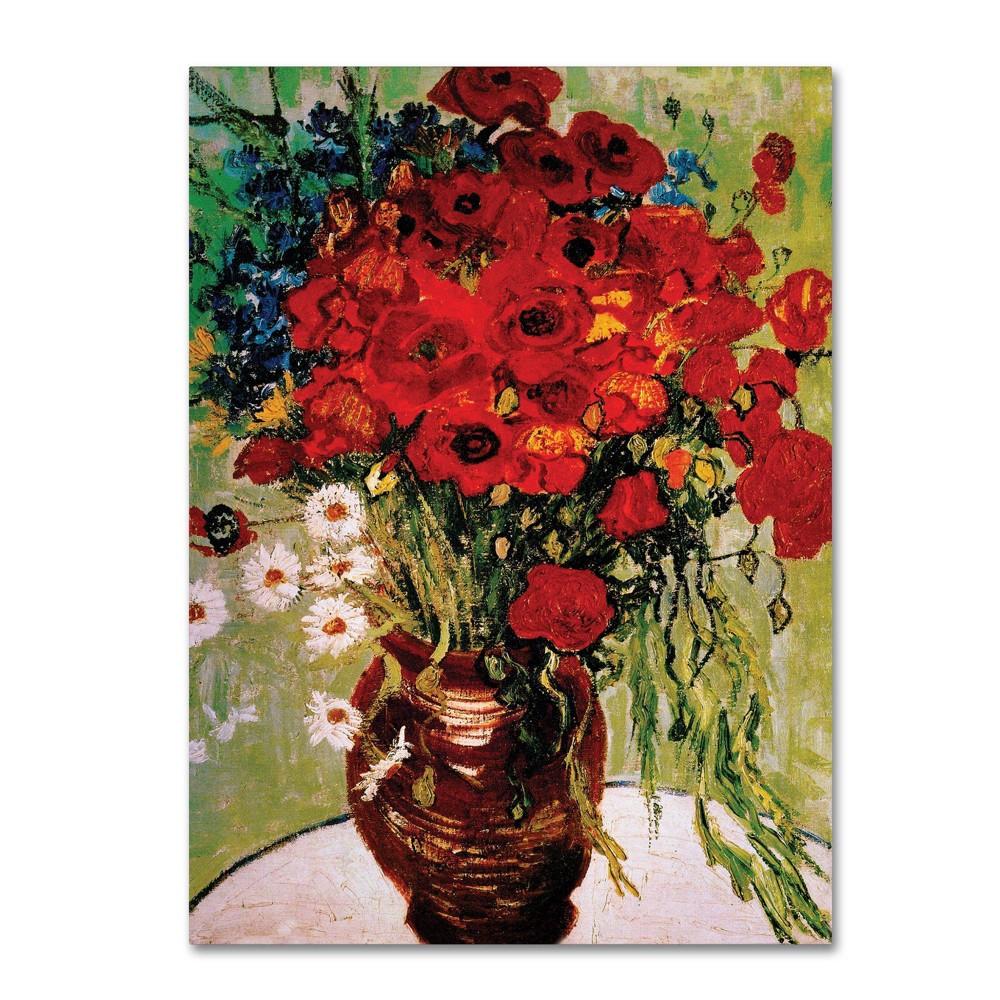 24 34 X 32 34 Daisie 38 Poppies By Vincent Van Gogh Trademark Fine Art