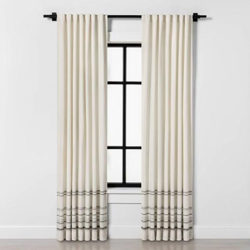 95 Engineered Hem Stripe Curtain Panel